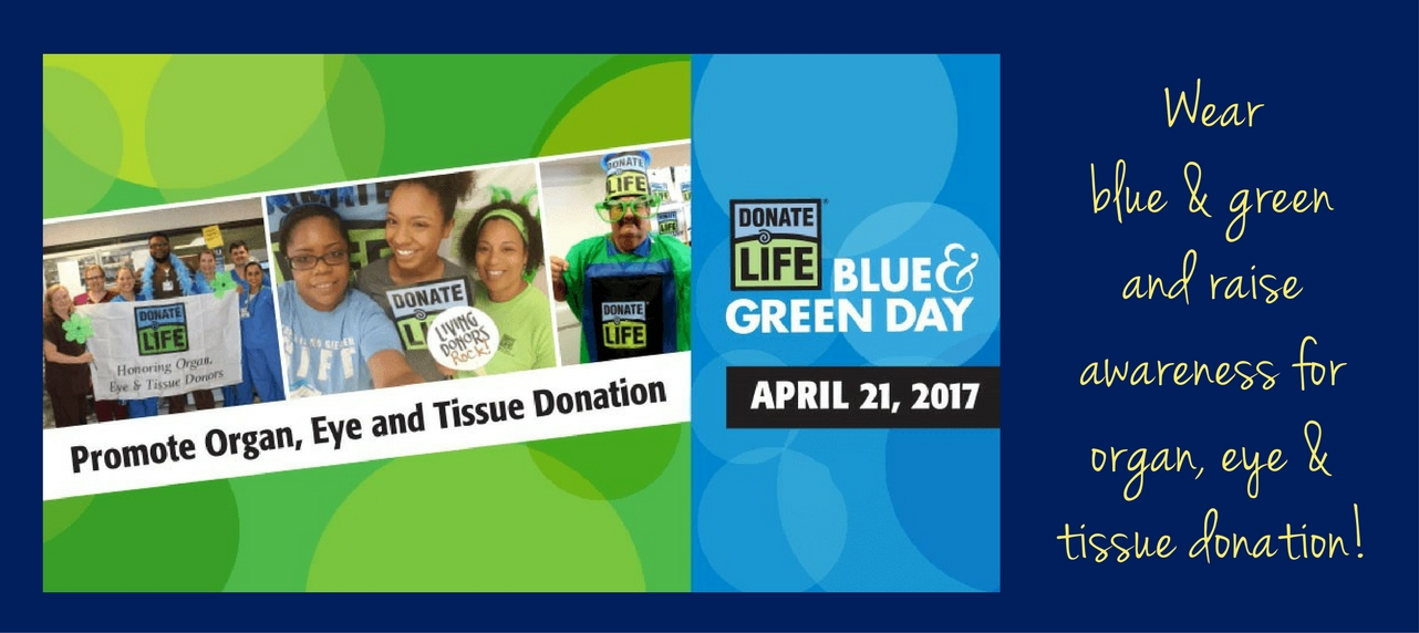 Blue and green day 2017.